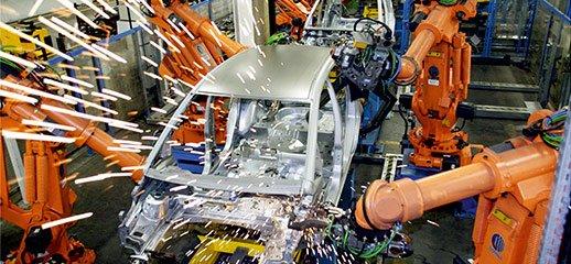 スポット溶接ラインなどでのロボット・ツールチェンジャー