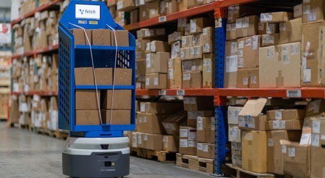 物流ロボットによる商品搬送の自動化