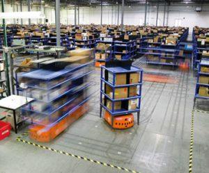 AmazonのKivaロボット