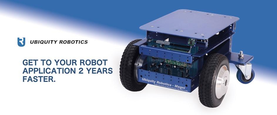 Ubiquity Robotics 取り扱い開始!
